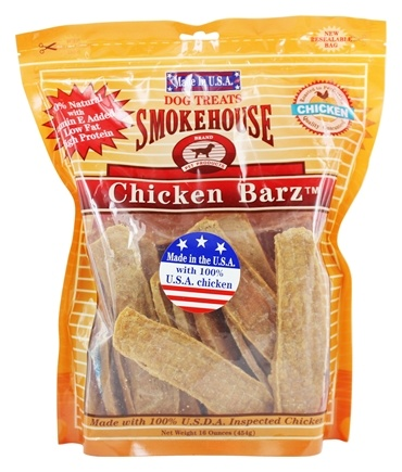 DROPPED: Smokehouse Pet Products - Chicken Barz Dog Treats - 16 oz.