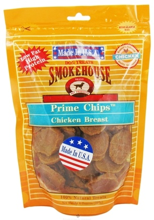 DROPPED: Smokehouse Pet Products - Prime Chips Dog Treats Chicken Breast - 8 oz. CLEARANCE PRICED