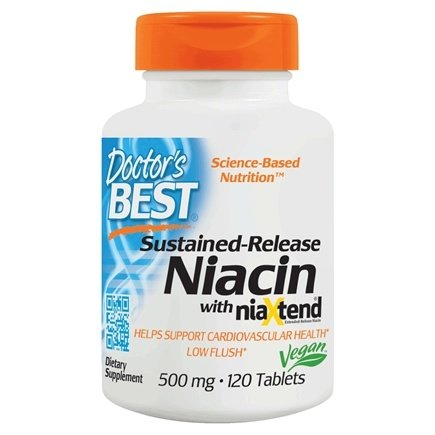 Doctor's Best - Niacin Time-Release with niaXtend 500 mg. - 120 Tablets