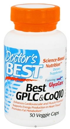 DROPPED: Doctor's Best - Best GPLC & CoQ10 Featuring GlycoCarn - 30 Vegetarian Capsules CLEARANCE PRICED