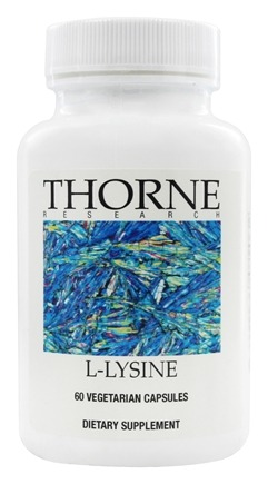 DROPPED: Thorne Research - L-Lysine 500 mg. - 60 Vegetarian Capsules