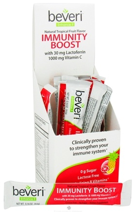 DROPPED: Beveri Nutrition - Immunity Boost Natural Tropical Fruit Flavor - 10 Count CLEARANCE PRICED