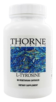 DROPPED: Thorne Research - L-Tyrosine 500 mg. - 90 Vegetarian Capsules