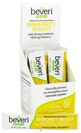 DROPPED: Beveri Nutrition - Immunity Boost Natural Lemon Zest Flavor - 10 Count CLEARANCE PRICED