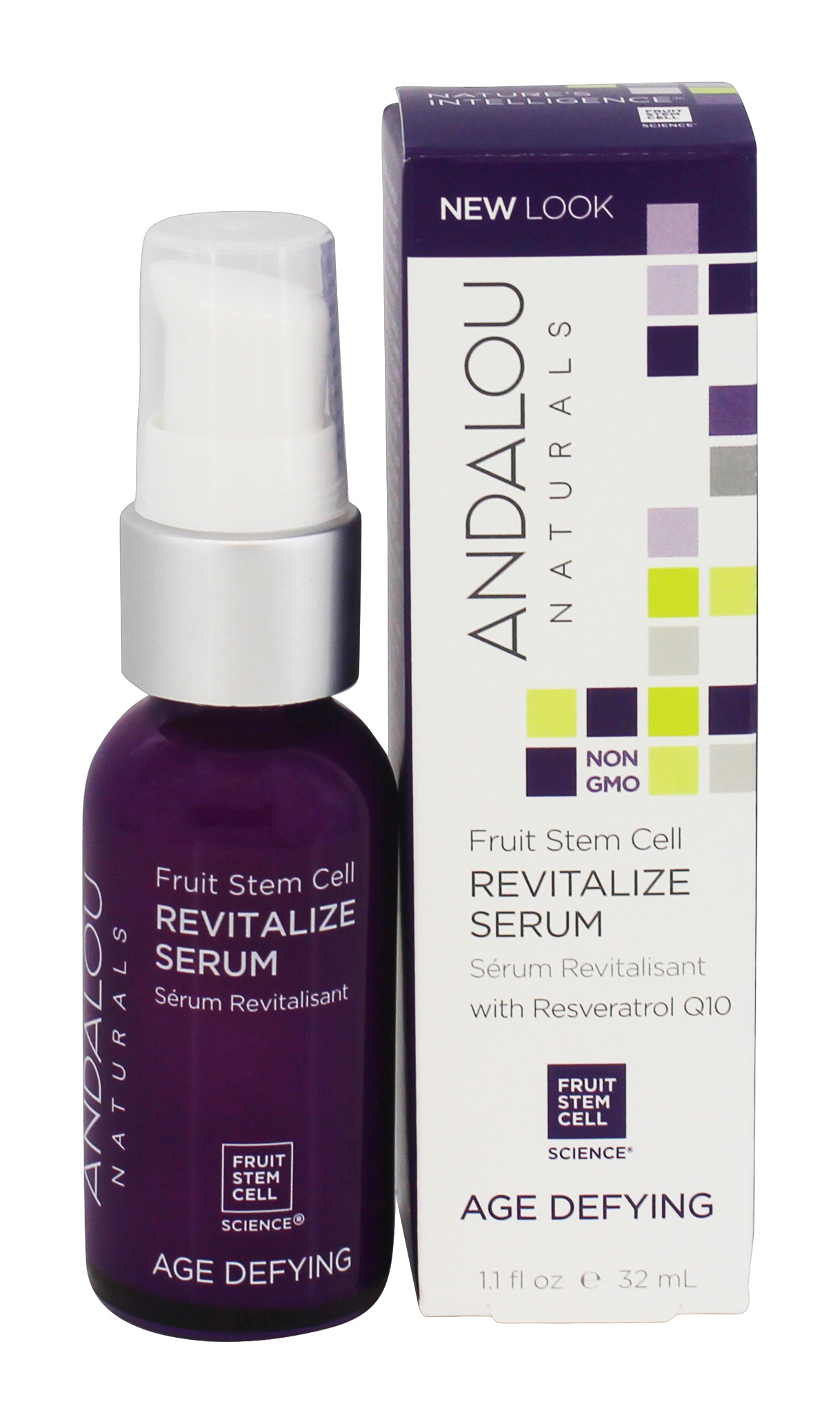 Buy Andalou Naturals Age Defying Revitalize Serum With Resveratrol Q10 1 1 Fl Oz At Luckyvitamin Com