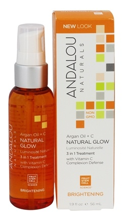 Andalou Naturals - Brightening Argan + Omega Natural Glow 3 in 1 Treatment - 1.9 oz. Formerly Facial Concentrate Nourishing Omega Glow