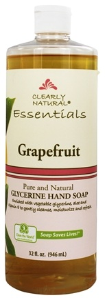 Clearly Natural - Natural Hand Wash Liquid Soap Refill Grapefruit - 32 oz. Formerly Citrus Magic