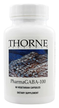 DROPPED: Thorne Research - PharmaGABA-100 mg. - 60 Vegetarian Capsules