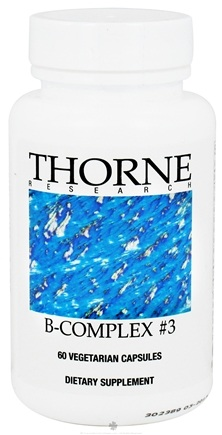 DROPPED: Thorne Research - B-Complex #3 - 60 Vegetarian Capsules