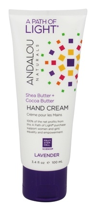 Andalou Naturals - A Path of Light Shea Butter + Cocoa Butter Hand Cream Lavender - 3.4 oz.