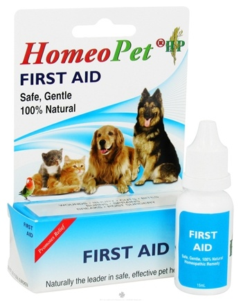 DROPPED: HomeoPet - First Aid Liquid Drops For Pets - 15 ml. CLEARANCE PRICED