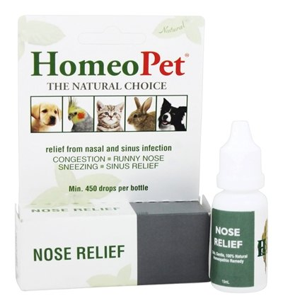HomeoPet - Nose Relief Liquid Drops For Pets - 15 ml.