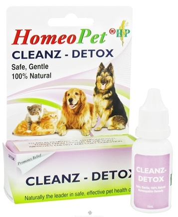 DROPPED: HomeoPet - Cleanz Detox Liquid Drops For Pets - 15 ml. CLEARANCE PRICED