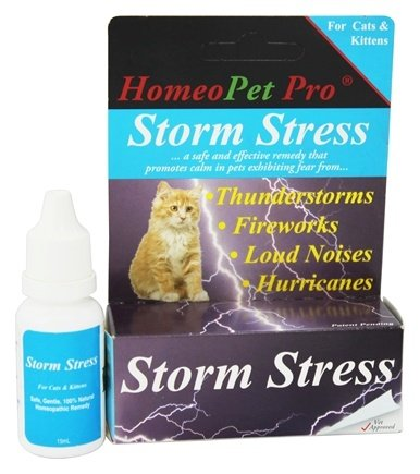DROPPED: HomeoPet - Storm Stress For Cats & Kittens Liquid Drops - 15 ml.
