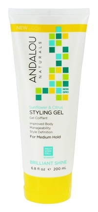 Andalou Naturals - Styling Gel Healthy Shine Flexible Medium Hold Sunflower & Citrus - 6.8 oz.