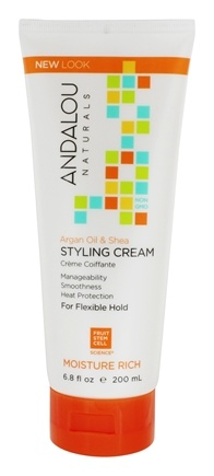 Andalou Naturals - Argan Oil & Shea Moisture Rich Styling Cream - 6.8 oz.