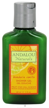 DROPPED: Andalou Naturals - Shower Gel Vitalizing Mandarin Vanilla - 2 oz. Travel Size CLEARANCE PRICED