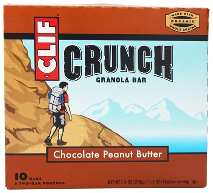 DROPPED: Clif Bar - Crunch Granola All Natural Chocolate Peanut Butter - 10 Bars