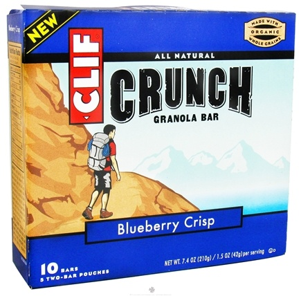 DROPPED: Clif Bar - Crunch Granola All Natural Blueberry Crisp - 10 Bars CLEARANCE PRICED