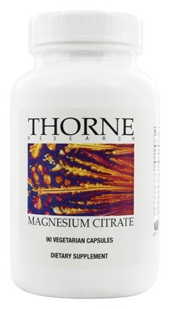 DROPPED: Thorne Research - Magnesium Citrate 140 mg. - 90 Vegetarian Capsules