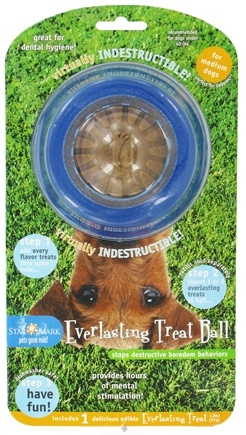 DROPPED: StarMark - Everlasting Treat Ball For Medium Dogs - CLEARANCE PRICED