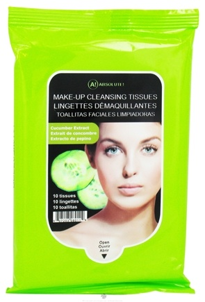 DROPPED: Nicka K Cosmetics - Absolute Makeup Cleansing Tissues Cucumber Extract - 10 Tissue(s) CLEARANCE PRICED