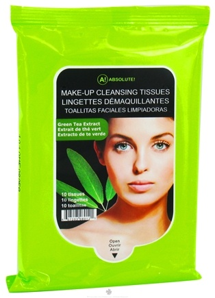 Zoom View - Absolute Make-Up Cleansing Tissues Green Tea Extract
