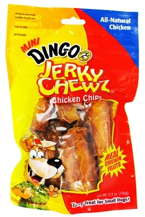 DROPPED: Dingo - Jerky Chewz Chicken Chips Mini Dog Treats - 5.5 oz. CLEARANCE PRICED