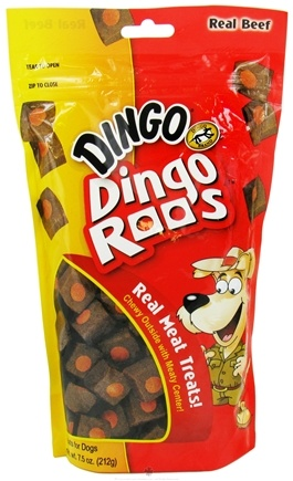 DROPPED: Dingo - Dingo Roos Dog Treats - 7.5 oz. CLEARANCE PRICED