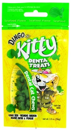 DROPPED: Dingo - Kitty Denta Treats Seafood Flavor - 2 oz. CLEARANCE PRICED