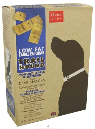 DROPPED: Cloud Star - Trail Hound Dog Snacks Yogurt, Apple & Banana - 16 oz. CLEARANCE PRICED