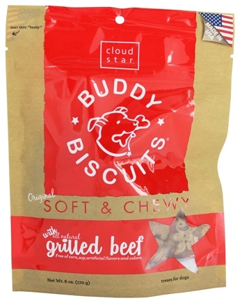 DROPPED: Cloud Star - Buddy Biscuits Soft & Chewy Dog Treats Grilled Beef - 6 oz.
