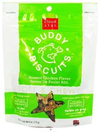 DROPPED: Cloud Star - Buddy Biscuits Soft & Chewy Dog Treats Roasted Chicken - 6 oz. CLEARANCE PRICED