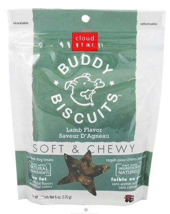 DROPPED: Cloud Star - Buddy Biscuits Soft & Chewy Dog Treats Lamb - 6 oz. CLEARANCE PRICED