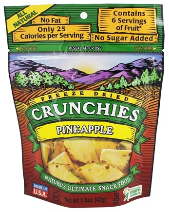 DROPPED: Crunchies - Freeze Dried Fruit Snack Pineapple - 1.5 oz.