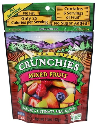 DROPPED: Crunchies - Freeze Dried Fruit Snack Mixed Fruit - 1.5 oz.