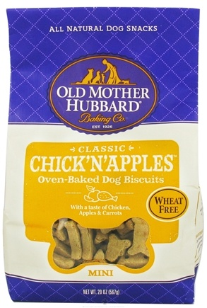 DROPPED: Old Mother Hubbard - Classic Biscuits Mini Dog Treats Chick'N'Apples - 20 oz. CLEARANCE PRICED