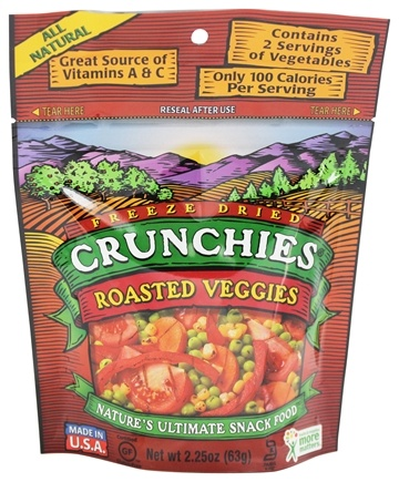 Crunchies Freeze Dried Vegetable Snack Roasted Veggies 2 25 Oz At Luckyvitamin