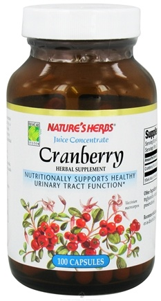 DROPPED: Nature's Herbs - Cranberry Juice Concentrate - 100 Capsules
