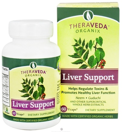 DROPPED: Organix South - TheraVeda Liver Support - 60 Vegetarian Capsules CLEARANCE PRICED