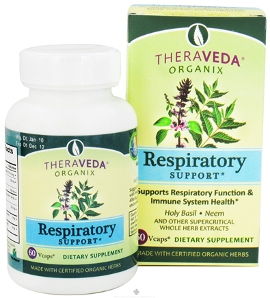 DROPPED: Organix South - TheraVeda Respiratory Support - 60 Vegetarian Capsules CLEARANCE PRICED