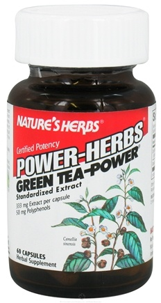 DROPPED: Nature's Herbs - Power Herb Green Tea - 60 Capsules CLEARANCE PRICED