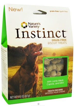 DROPPED: Nature's Variety - Instinct Biscuits Lamb Meal, Carrots & Mint - 11 oz. CLEARANCE PRICED