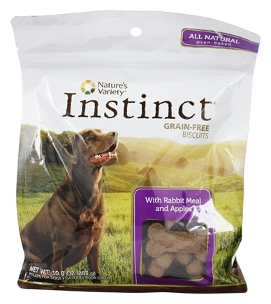 Nature's Variety - Instinct Grain-Free Biscuits Rabbit Meal and Apples - 10 oz.