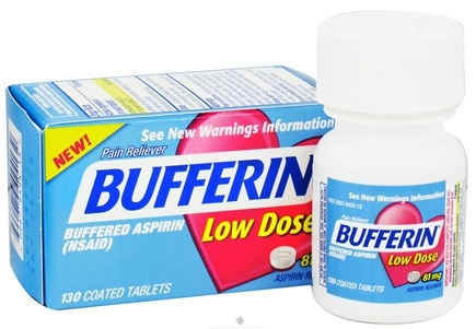 DROPPED: Bufferin - Buffered Aspirin Low Dose Pain Reliever 81 mg. - 130 Tablets