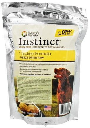 DROPPED: Nature's Variety - Instinct Freeze Dried Raw Medallions Chicken Formula - 7 oz.