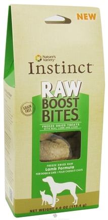 DROPPED: Nature's Variety - Instinct Raw Boost Bites Freeze Dried Treats Lamb Formula - 4 oz. CLEARANCE PRICED