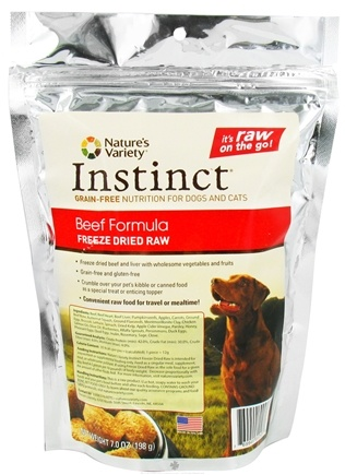 DROPPED: Nature's Variety - Instinct Freeze Dried Raw Medallions Beef Formula - 7 oz. CLEARANCE PRICED