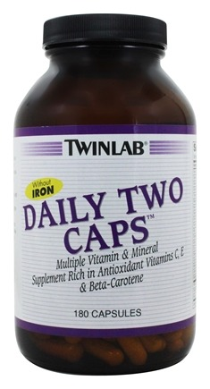 Twinlab - Daily Two Caps Without Iron - 180 Capsules