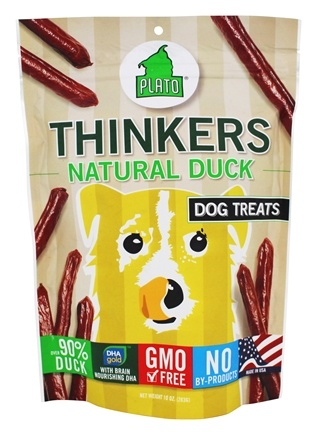 DROPPED: Plato Pet Treats - Thinkers Dog Treats Duck Sticks - 10 oz. CLEARANCE PRICED